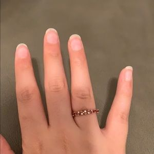 Jewelry - Rose gold red stone costume Jewelry ring